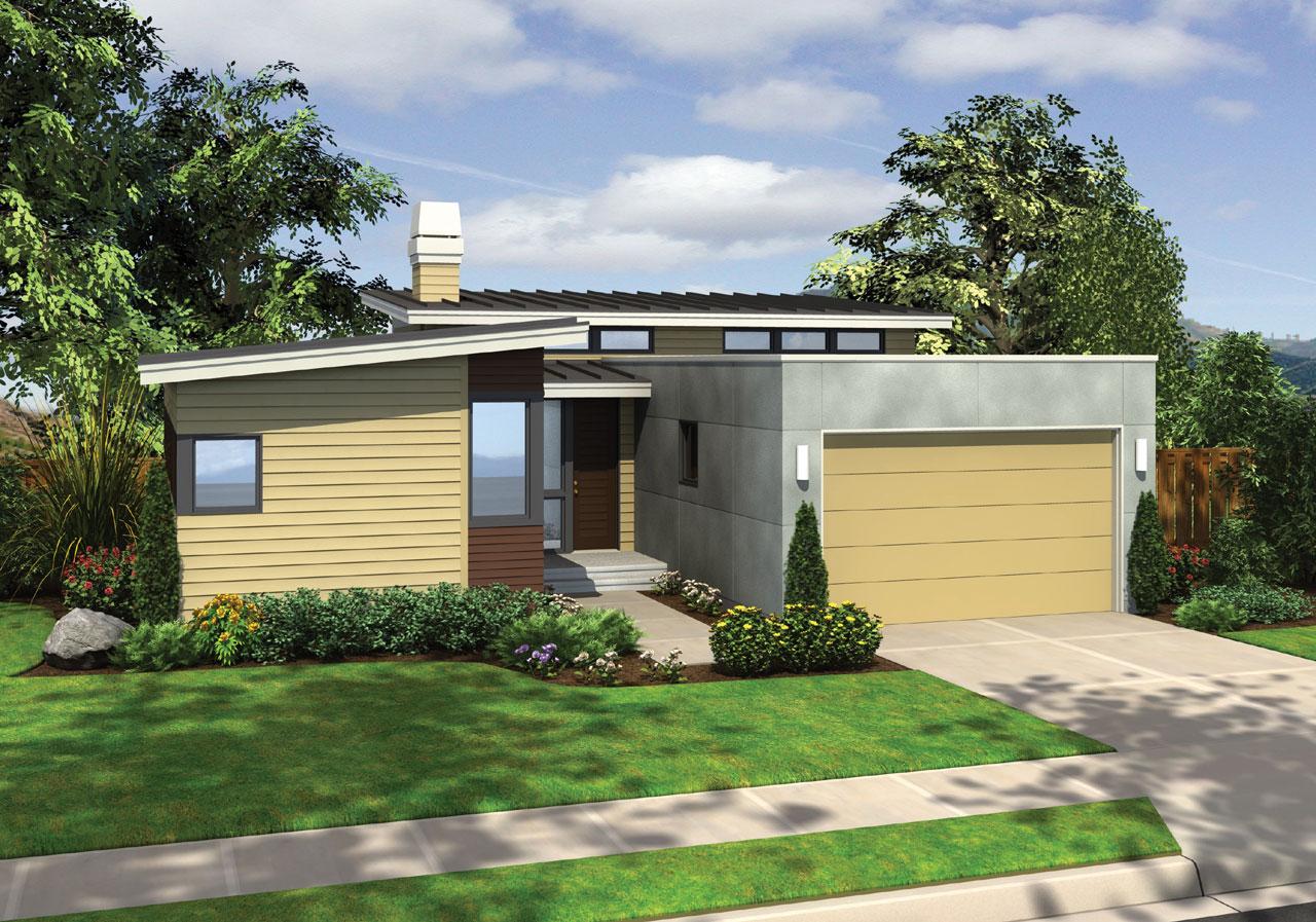 Modern Style Floor Plans Plan: 74-158