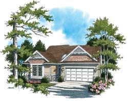 Craftsman Style Home Design Plan: 74-172