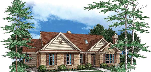 Traditional Style Home Design Plan: 74-177