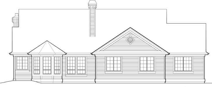 Rear Elevation Plan: 74-177