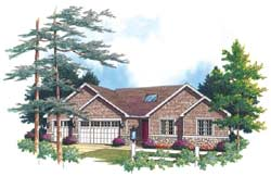 Ranch Style Floor Plans Plan: 74-179