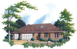 Ranch Style Floor Plans Plan: 74-180