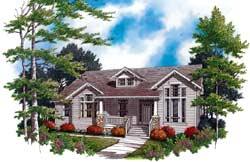 Craftsman Style Floor Plans Plan: 74-182