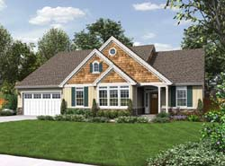 Craftsman Style Home Design 74-184