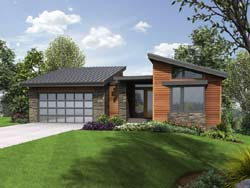 Contemporary Style House Plans Plan: 74-226