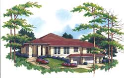 Contemporary Style House Plans Plan: 74-227