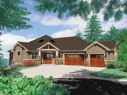 Craftsman Style House Plans Plan: 74-234