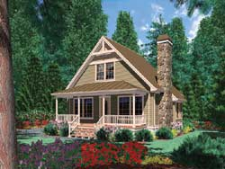 Cottage Style Floor Plans Plan: 74-247