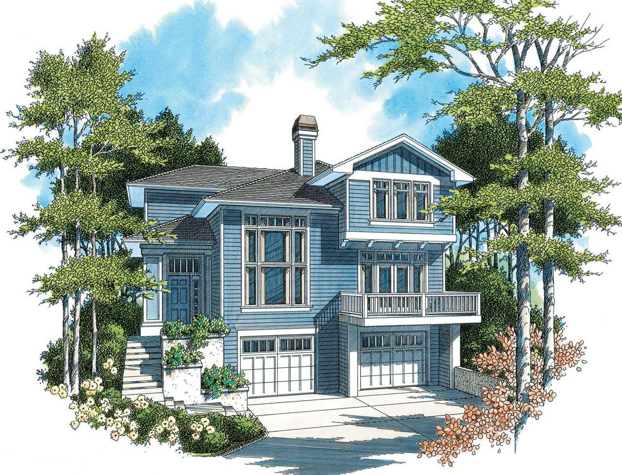 Craftsman Style House Plans Plan: 74-271