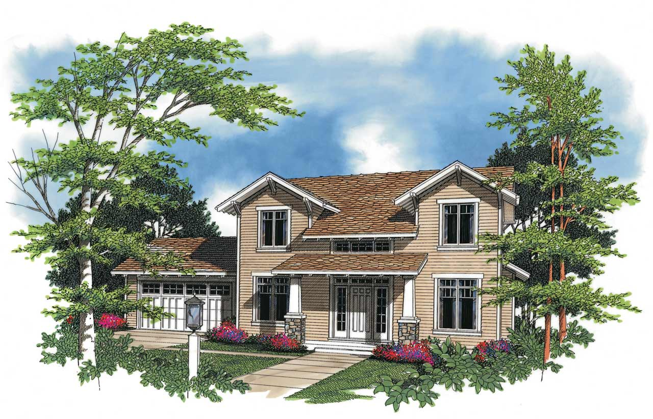 Craftsman Style House Plans Plan: 74-274