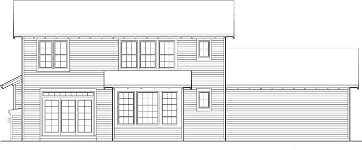 Rear Elevation Plan: 74-274