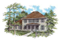 Southern-Colonial Style Floor Plans Plan: 74-275