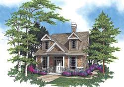 Craftsman Style Home Design Plan: 74-277
