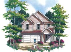 Traditional Style Home Design Plan: 74-280