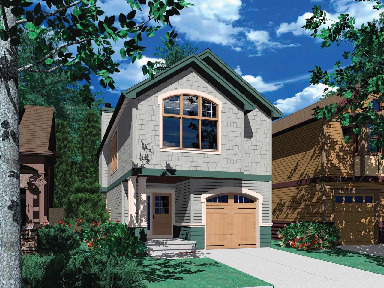 Craftsman Style Home Design Plan: 74-283