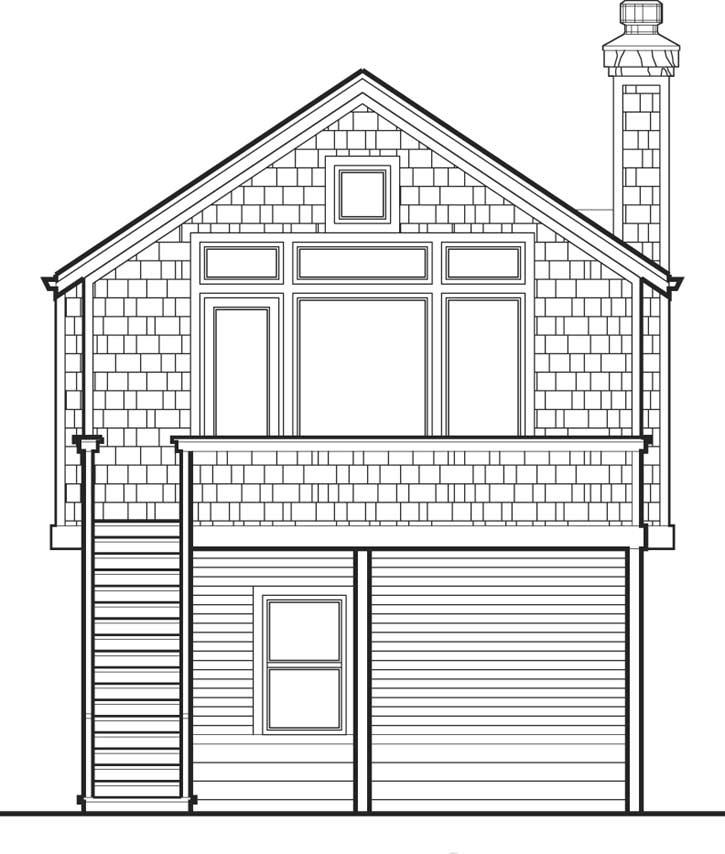 Rear Elevation Plan: 74-283