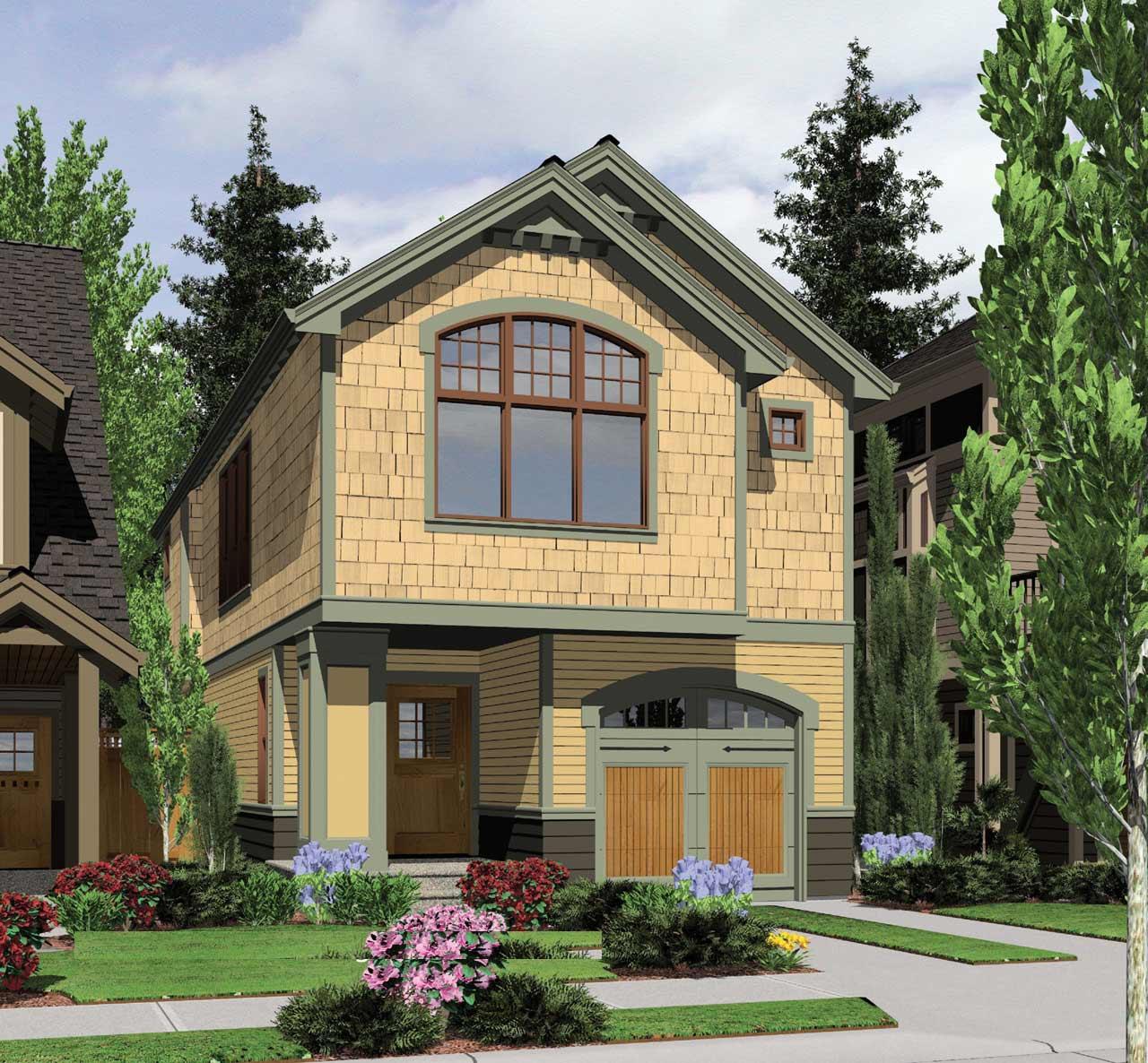 Craftsman Style Home Design Plan: 74-284