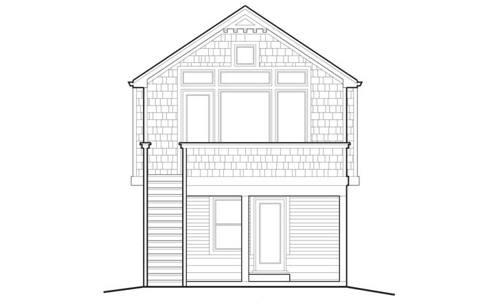 Rear Elevation Plan: 74-284