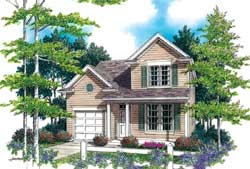 Colonial Style Floor Plans Plan: 74-292