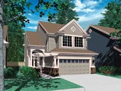 Craftsman Style Home Design Plan: 74-300