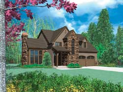 Cottage Style Floor Plans Plan: 74-301
