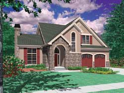 Cottage Style Home Design Plan: 74-302