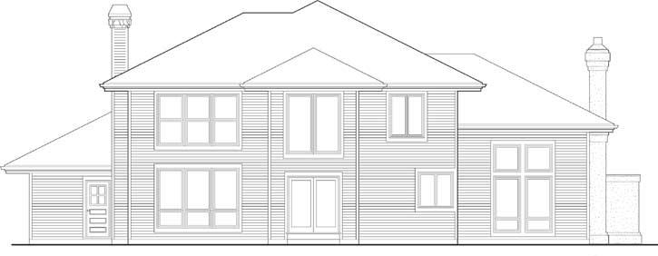 Rear Elevation Plan: 74-305
