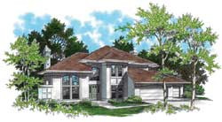 Contemporary Style House Plans Plan: 74-305