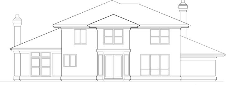 Rear Elevation Plan: 74-306