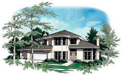 Contemporary Style Floor Plans Plan: 74-306