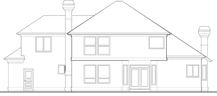 Rear Elevation Plan: 74-313