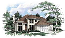 Contemporary Style Floor Plans Plan: 74-313
