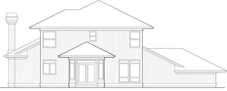 Rear Elevation Plan: 74-315