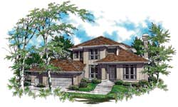 Contemporary Style House Plans Plan: 74-315