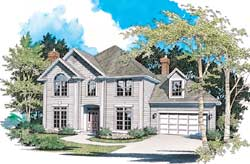 Colonial Style House Plans Plan: 74-318