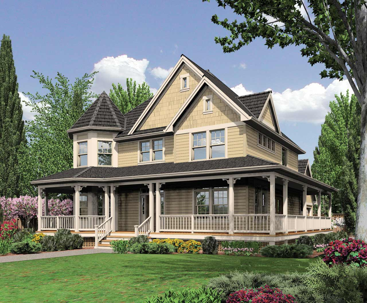 Victorian Style House Plans Plan: 74-321