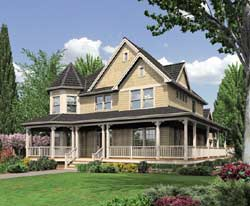 Victorian Style Home Design Plan: 74-321