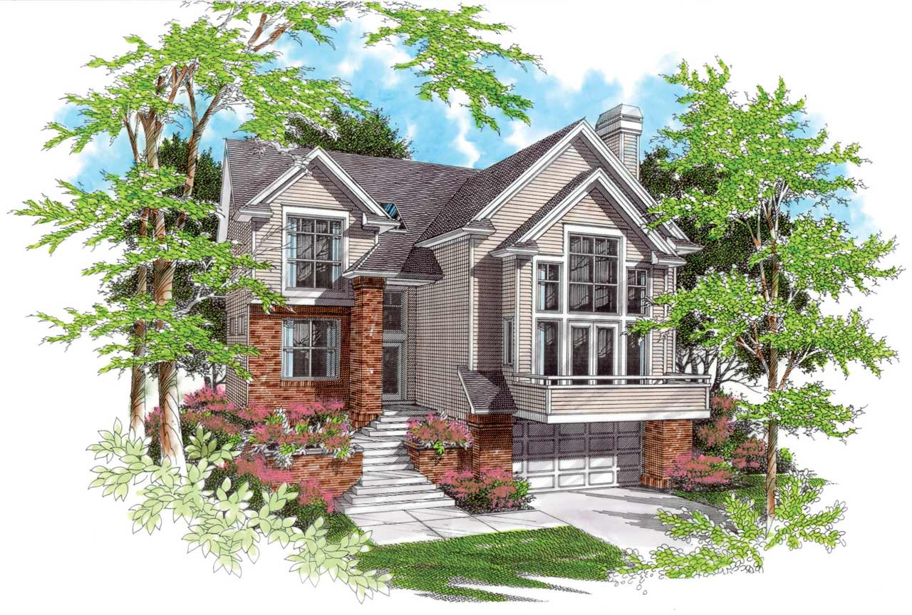 Contemporary Style Floor Plans Plan: 74-334