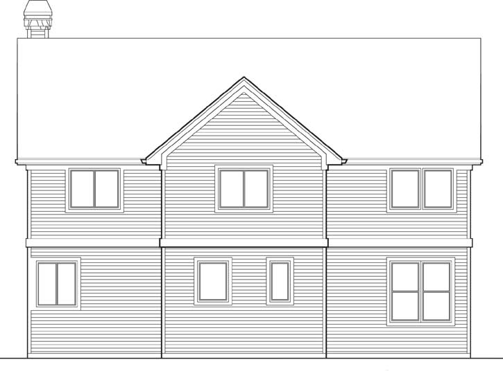 Rear Elevation Plan: 74-334