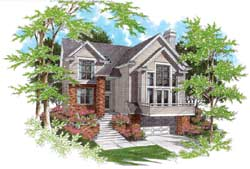 Contemporary Style Home Design Plan: 74-334
