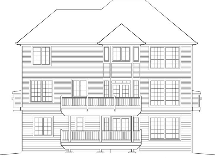 Rear Elevations Plan:74-335