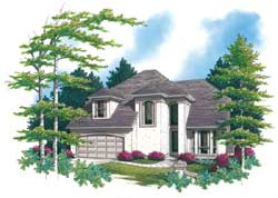 Contemporary Style House Plans Plan: 74-335