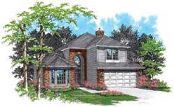 Northwest Style Home Design Plan: 74-336