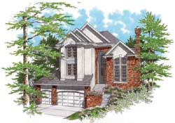 European Style Floor Plans Plan: 74-338