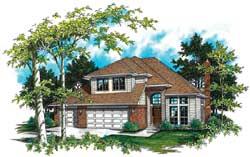 Northwest Style Home Design Plan: 74-340