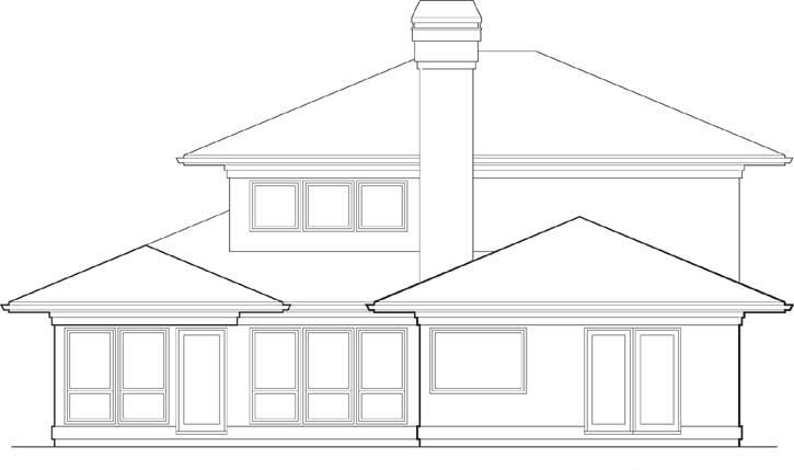 Rear Elevation Plan: 74-356