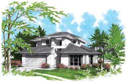 Contemporary Style Home Design Plan: 74-356