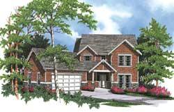 Craftsman Style Home Design Plan: 74-359