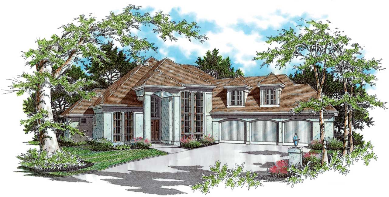 European Style Floor Plans Plan: 74-366