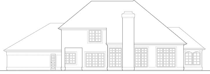 Rear Elevation Plan: 74-366